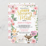 Baby Shower By Mail Pandemic Woodland Animal Invitation