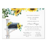 Baby Shower by Mail Sunflowers in Mailbox Invitation
