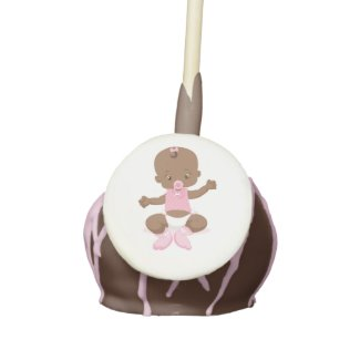 Baby Shower Cake Pop with Vintage Baby
