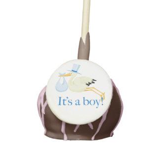 Baby Shower Cake Topper with Stork Cake Pops