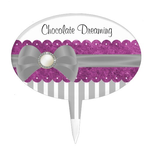 Baby Shower Cake Toppers Ribbon, Bow & Brooch