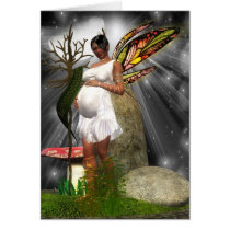 Baby Shower Card - African American Fairy