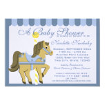 Baby Shower Carousel Blue Card