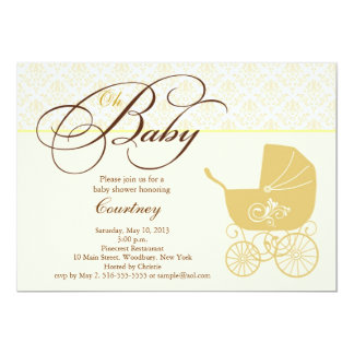 Baby Shower Carriage Invitation