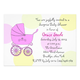 Baby Shower Carriage Personalized Invite