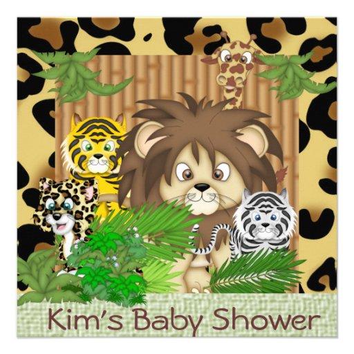 baby shower cheetah animal theme invitations zazzle
