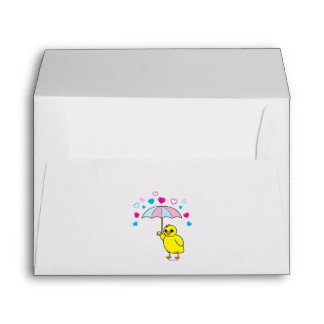 Baby Shower: Chick and Hearts Envelope