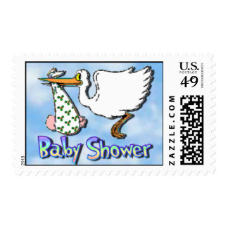 Baby Shower Christmas (White) Postage