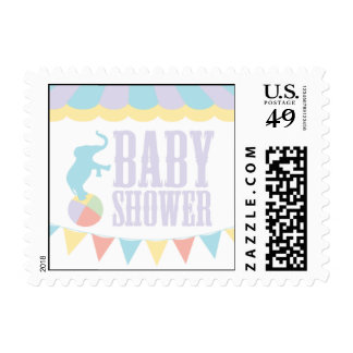 Baby Shower Circus Postage