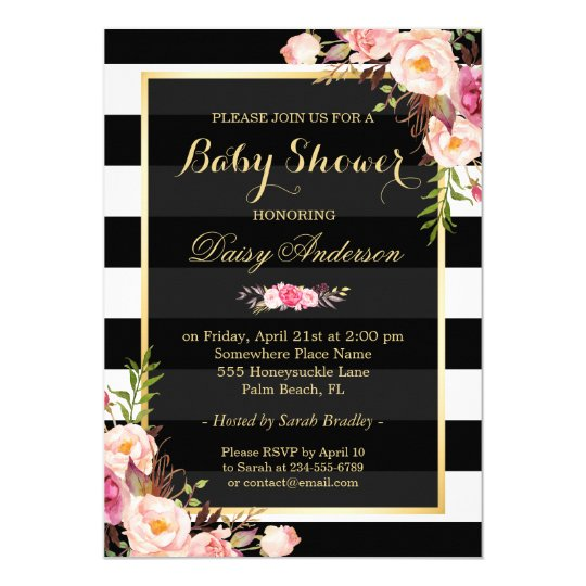 floral baby shower invitations & announcements | zazzle, Baby shower invitations