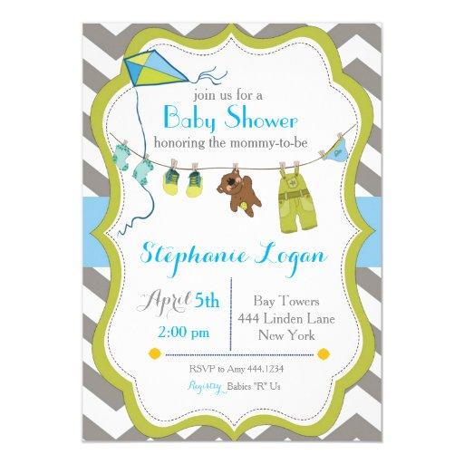 baby shower clothesline invitation zazzle