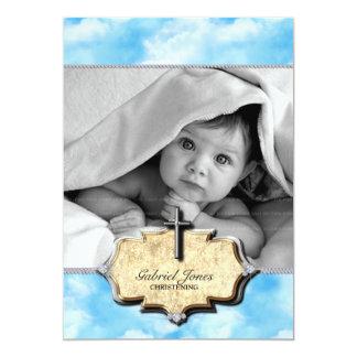 Baby Shower Clouds Christening Celebration Baptism Card