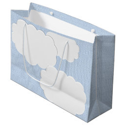 Baby Shower Clouds Large Gift Bag