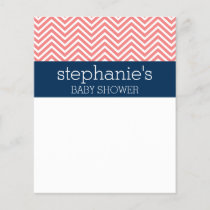 Baby Shower Collection - Coral and Navy Chevrons