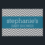 "Baby Shower Collection - Teal and Gray Chevrons Sign<br><div class=""desc"">A modern and chic design for a mom-to-be.</div>"
