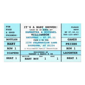 Baby Shower Concert Ticket Invitation Photo Card