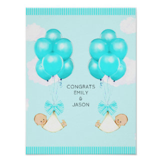 Baby Shower Congrats Poster