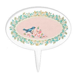 Baby shower cupcake picks-bluebird cupcake picks