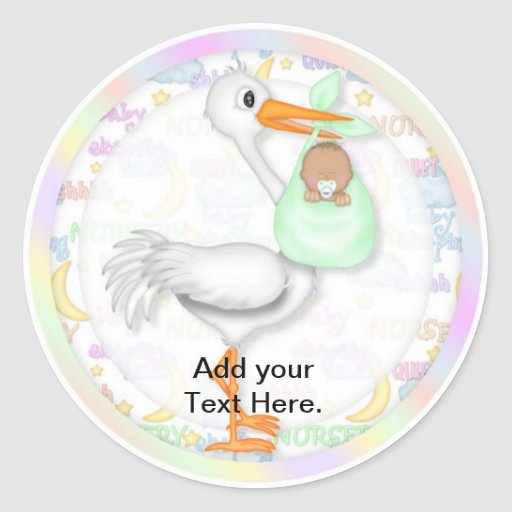 baby shower cupcake toppers stickers zazzle