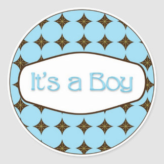 Baby Shower Cupcake Toppers Stickers It's a Boy