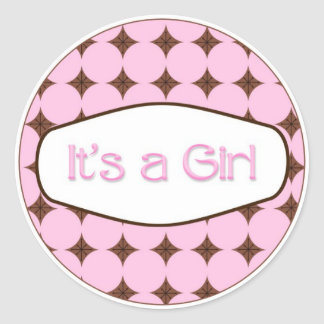 Baby Shower Cupcake Toppers Stickers It's a Girl