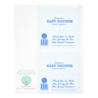 Baby Shower Custom Candy Bar Wrappers Blue Flyer