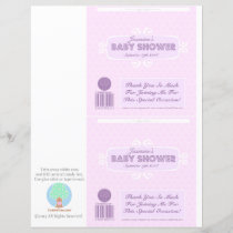 Baby Shower Custom Candy Bar Wrappers Pink
