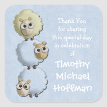 Baby Shower Custom Name Thank You Stickers