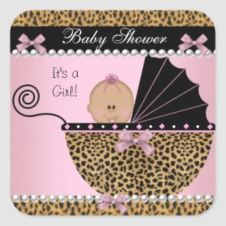 Baby Shower Cute Baby Girl Pink Leopard