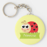 Baby Shower: Cute Baby Ladybug with heart spots Basic Round Button Keychain