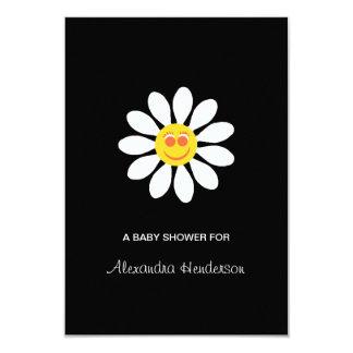 Baby Shower Cute Happy Face Girly Daisy Flower Card