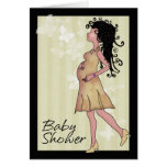 Baby shower cute pregnant Mom Greeting Cards