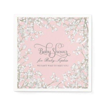 luxuryweddings Baby Shower Decor Babys Breath Wreath Floral Napkin