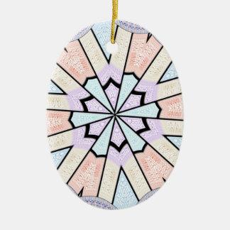 Baby shower design ceramic ornament