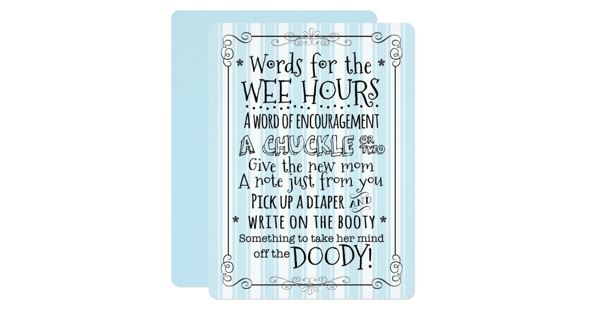 baby shower diaper activity card sign zazzle