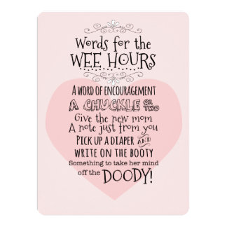 Baby Shower Diaper Activity Card Sign
