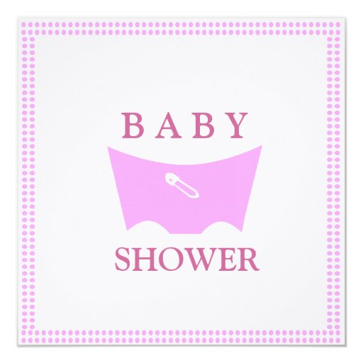baby shower diaper cut out invitation zazzle