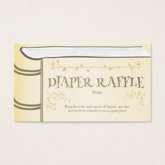 Baby Shower Diaper Raffle Card Storybook Fairy