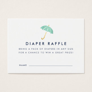 Baby Shower Diaper Raffle Ticket Cards | Mint