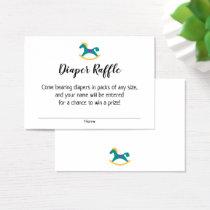 Baby Shower Diaper Raffle Tickets w/ Rocking Horse