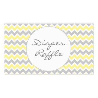 Baby Shower Diaper Raffle Tickets, yellow grey