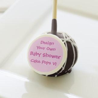 BABY SHOWER DIY Design Your Own Cake Pops V1 PINK Cake Pops
