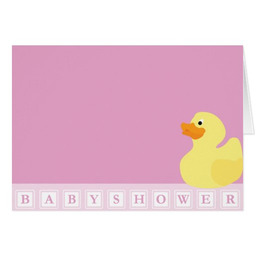 Baby Shower Duck Greeting Card