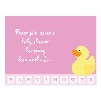 Baby Shower Duck Postcard