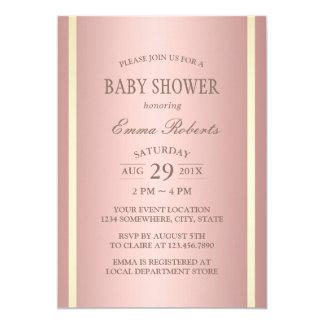Baby Shower Elegant Rose Gold Foil Card