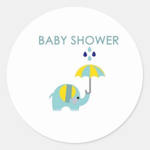 baby shower elephant sticker zazzle