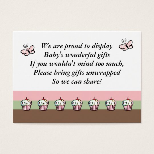 Baby Shower Enclosure Card