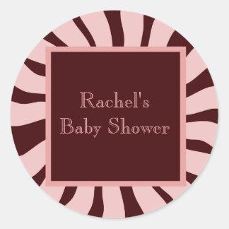 Baby Shower Envelope Seal Classic Round Sticker