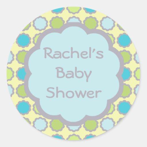baby shower envelope seal sticker zazzle