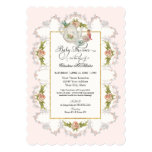 Baby Shower Fairy Tea Party Teapot n Cups 5x7 Paper Invitation Card